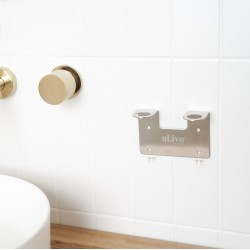 DOUBLE WALL HOLDER BRUSHED NICKEL
